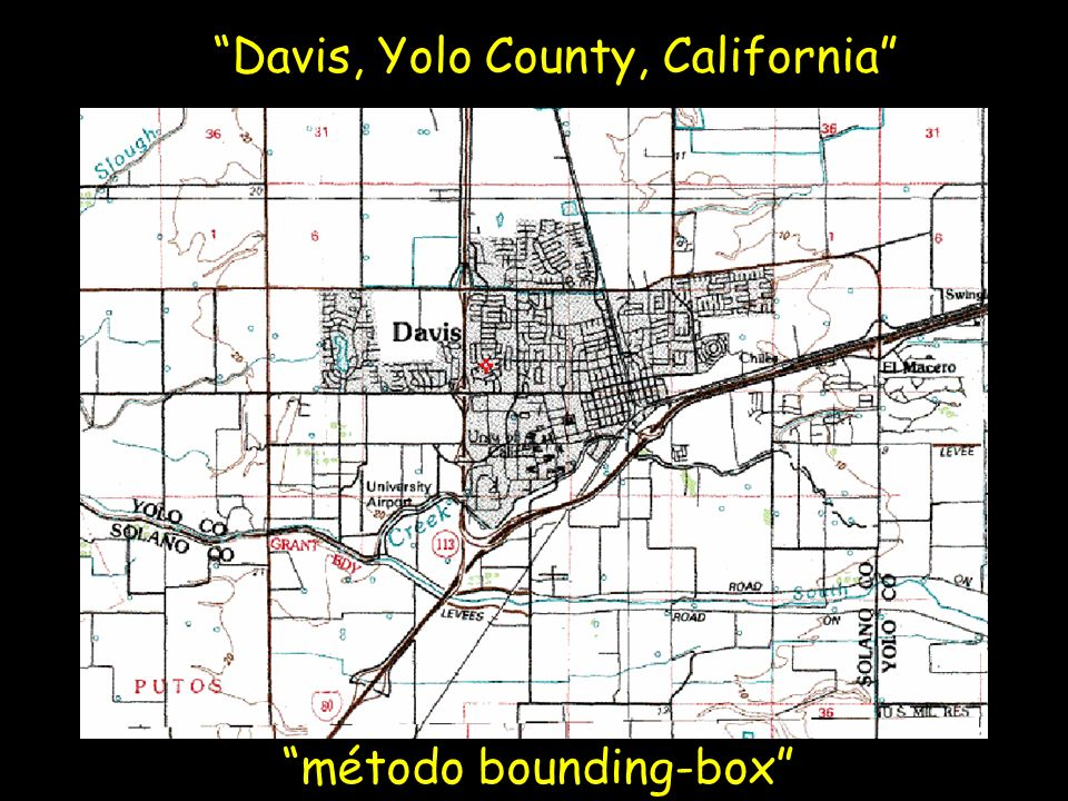 Davis, Yolo County, California método point-radius Coordinates: 38.5468 -121.7469 Horizontal Geodetic Datum: NAD27 Maximum Uncertainty: 8325 m