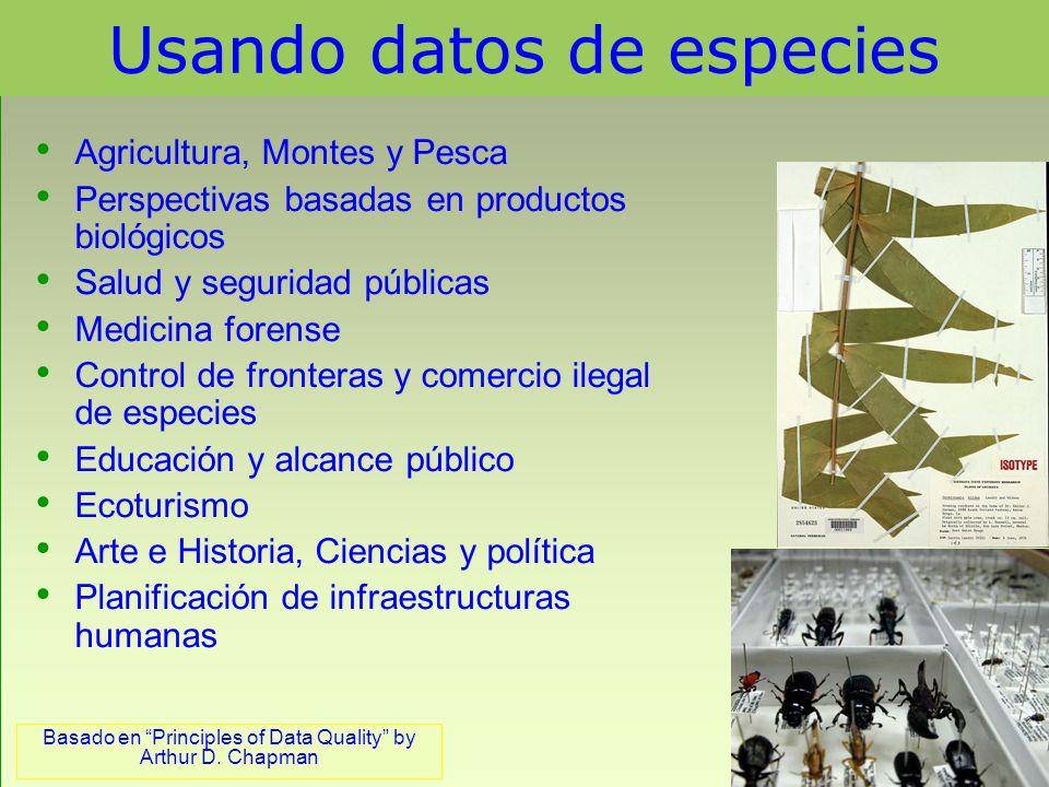 Principios de la calidad de datos 4 Actualidad de los datos – se refiere a la frecuencia de actualización del conjunto de los datos de la colección.