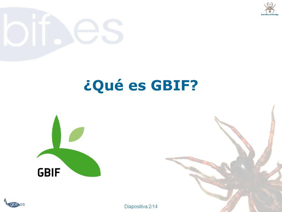 Diapositiva 2/14 ¿Qué es GBIF?