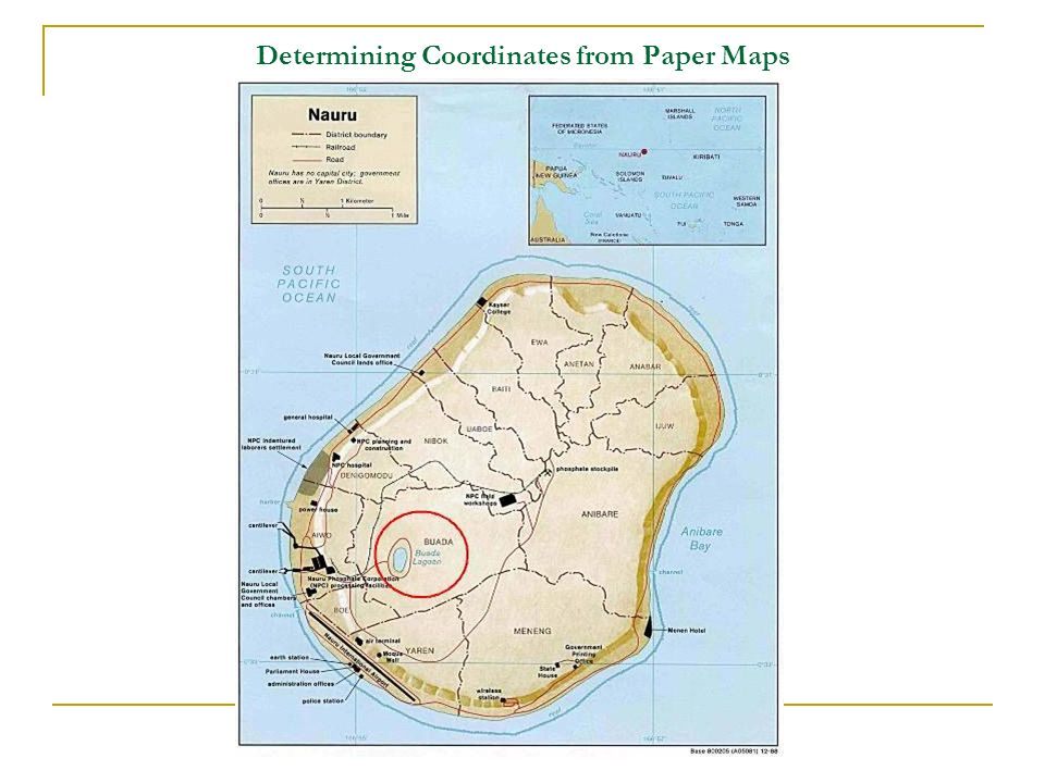 Determining Coordinates from Paper Maps