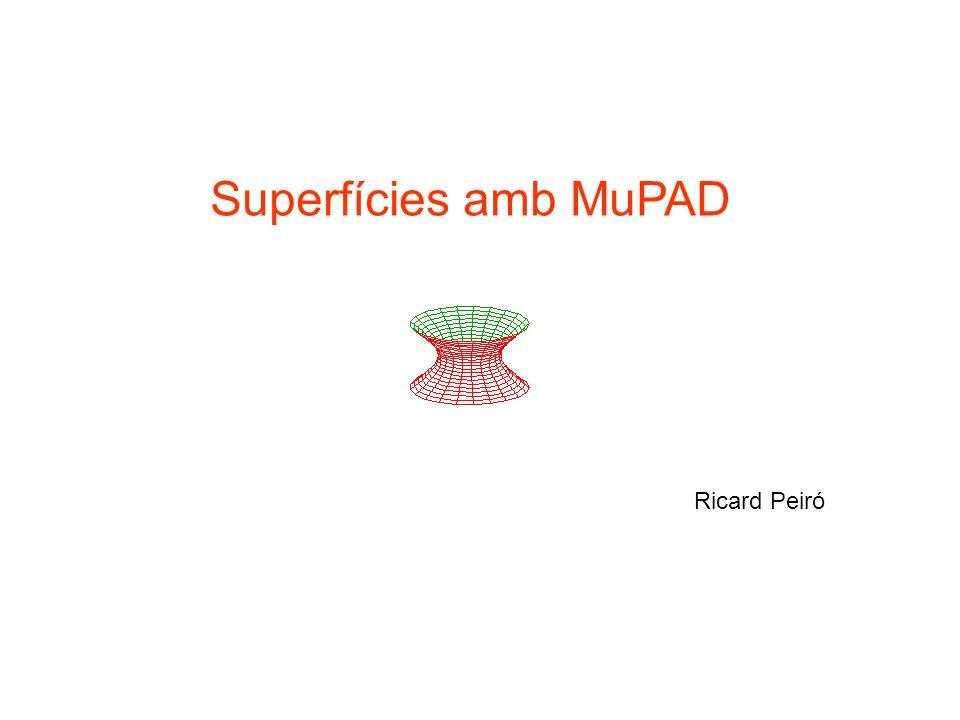 Superfícies amb MuPAD Ricard Peiró