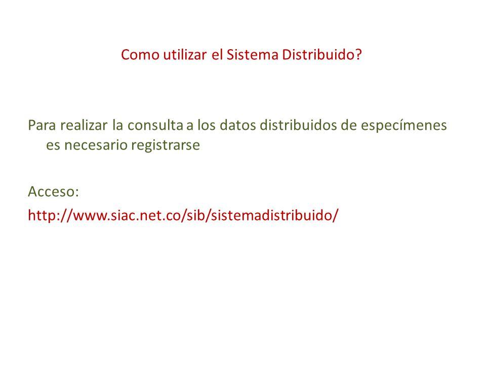 Como utilizar el Sistema Distribuido.