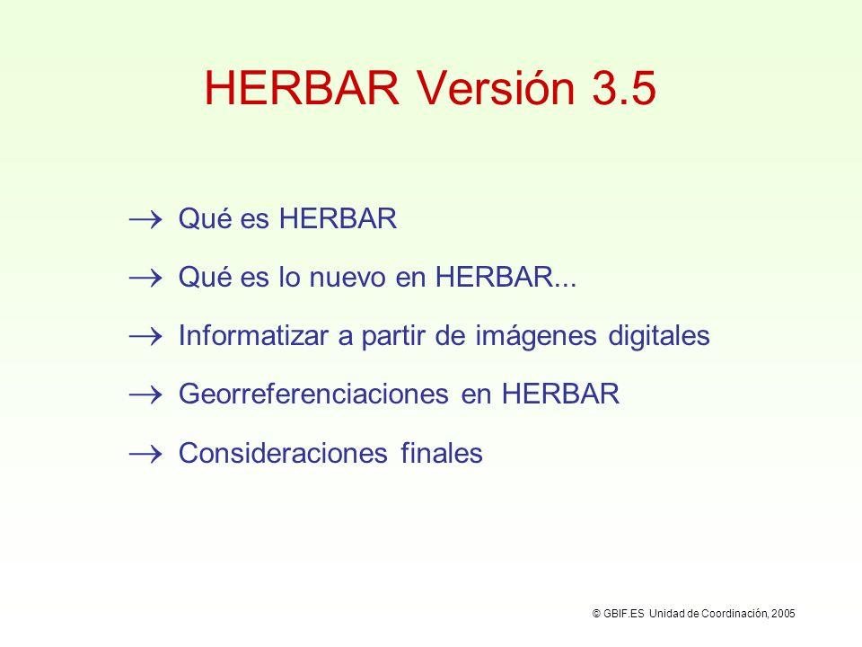 Tablas para intercambio Salida de Datos HERBAR HERBAR es una aplicación para la gestión y consulta colecciones botánicas.