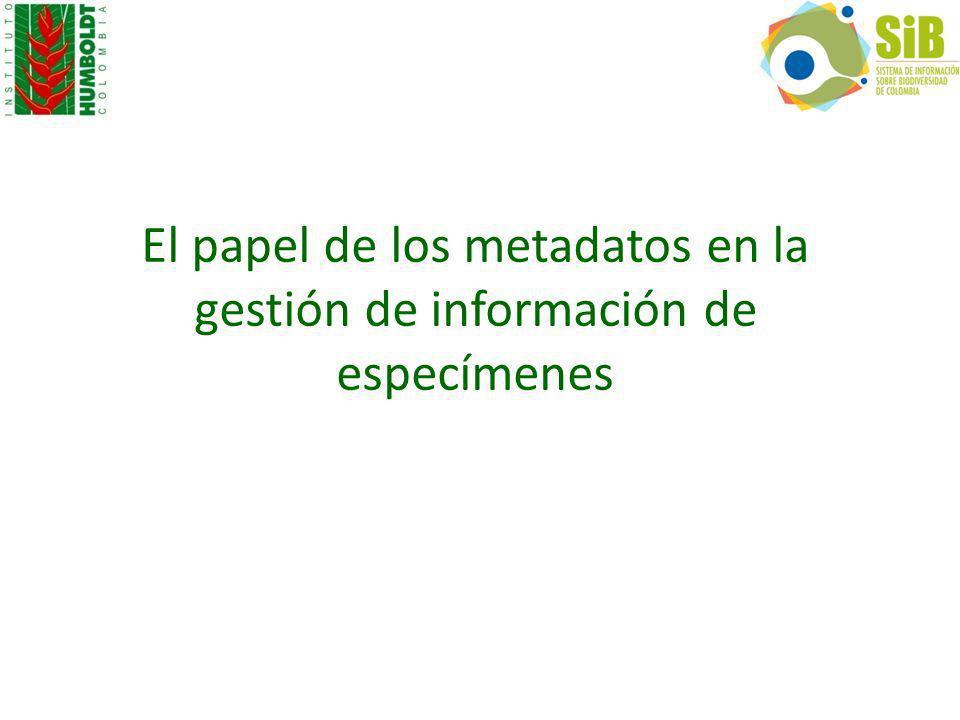 El papel de los metadatos en la gestión de información de especímenes