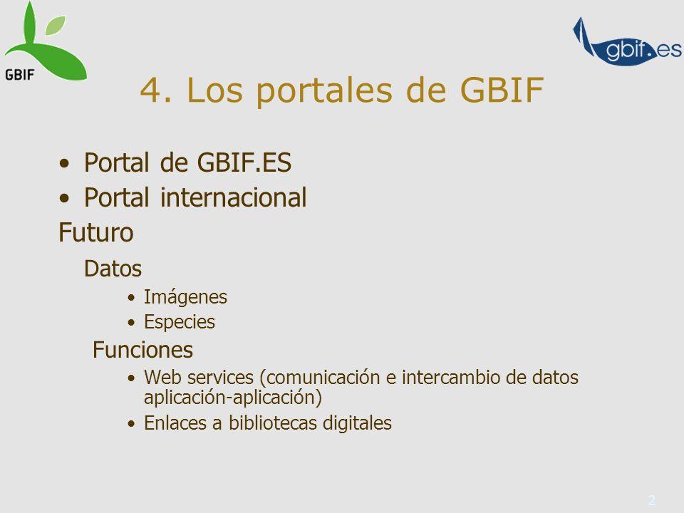3 9. Presente y futuro del plan de formación de GBIF 26 talleres desde 2005
