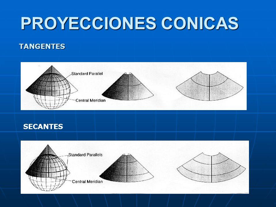 PROYECCIONES CONICAS TANGENTES SECANTES