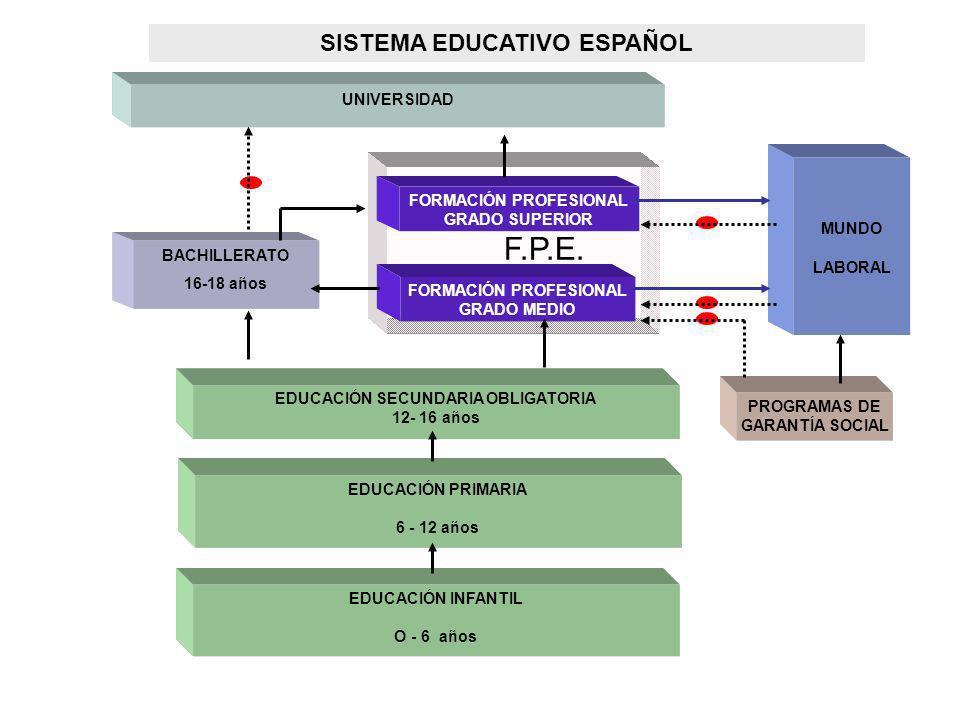 ENSEÑANZAS DEL SISTEMA EDUCATIVO (I) EDUCACIÓN INFANTIL EDUCACIÓN PRIMARIA EDUCACIÓNSECUNDARIA OBLIGATORIA EDUCACIÓN BÁSICA EDUCACIÓN SECUNDARIA POSTOBLIGATORIA EDUCACIÓN SECUNDARIA BACHILLERATO FORMACIÓN PROFESIONAL DE GRADO MEDIO ENSEÑANZAS PROFESIONALES DE ARTES PLÁSTICAS Y DISEÑO DE GRADO MEDIO ENSEÑANZAS DEPORTIVAS DE GRADO MEDIO