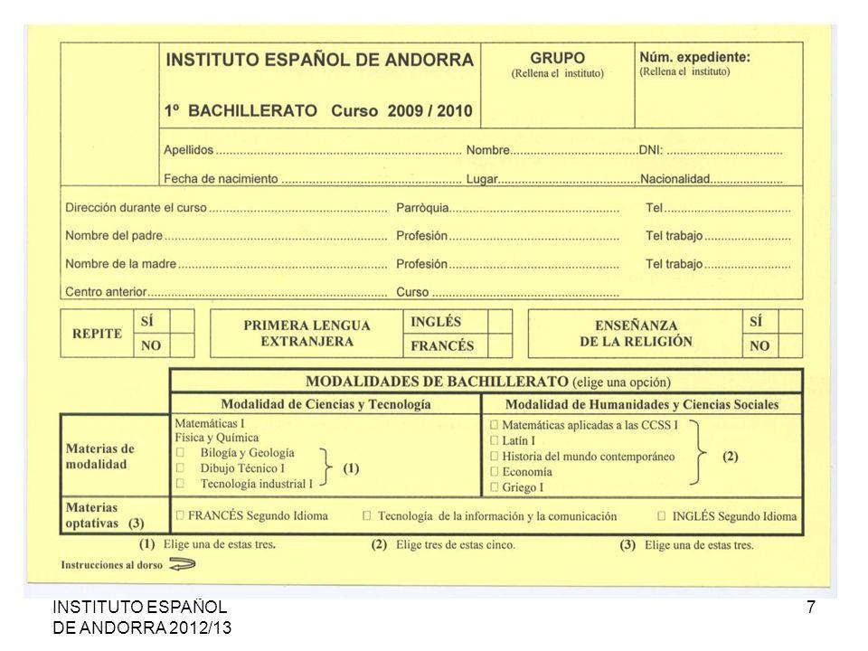 INSTITUTO ESPAÑOL DE ANDORRA 2012/13 7