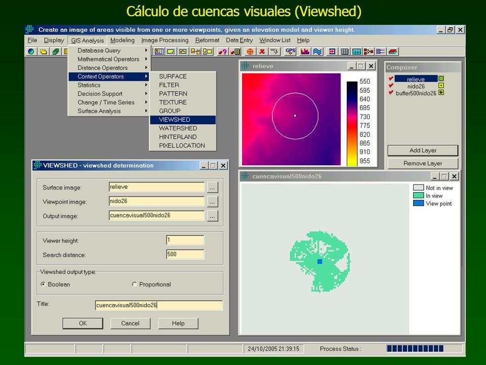 Cálculo de cuencas visuales (Viewshed)