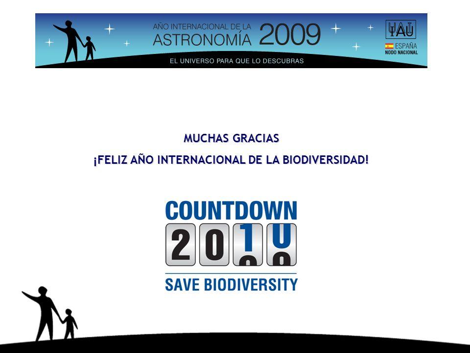 MUCHAS GRACIAS ¡FELIZ AÑO INTERNACIONAL DE LA BIODIVERSIDAD!