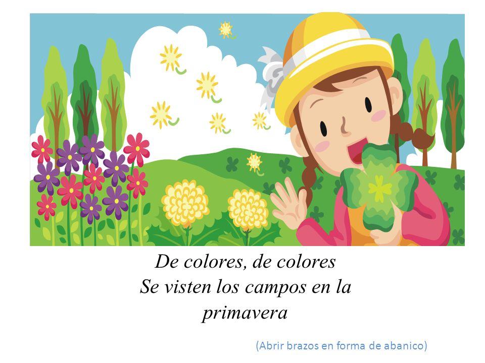 5.Dibujo infantil de la primavera.