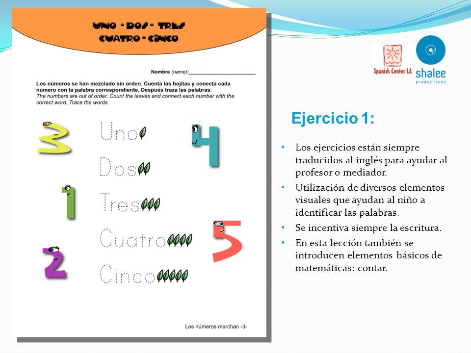 Vocabulario básico Vocabulario adicional Vocabulario: