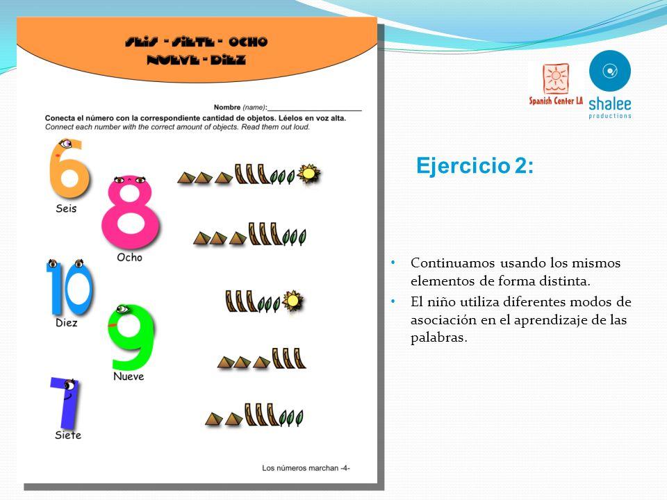 Los ejercicios están siempre traducidos al inglés para ayudar al profesor o mediador. Utilización de diversos elementos visuales que ayudan al niño a