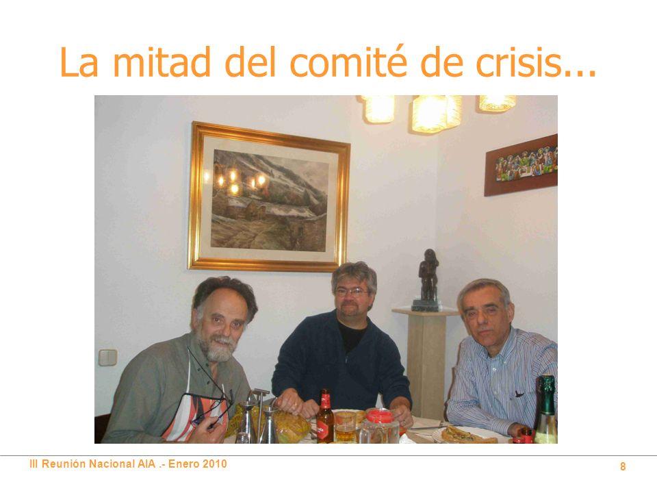 III Reunión Nacional AIA.- Enero 2010 8 La mitad del comité de crisis...