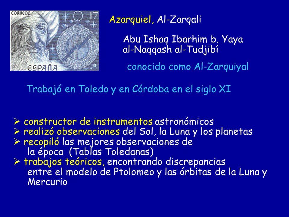constructor de instrumentos astronómicos realizó observaciones del Sol, la Luna y los planetas recopiló las mejores observaciones de la época (Tablas