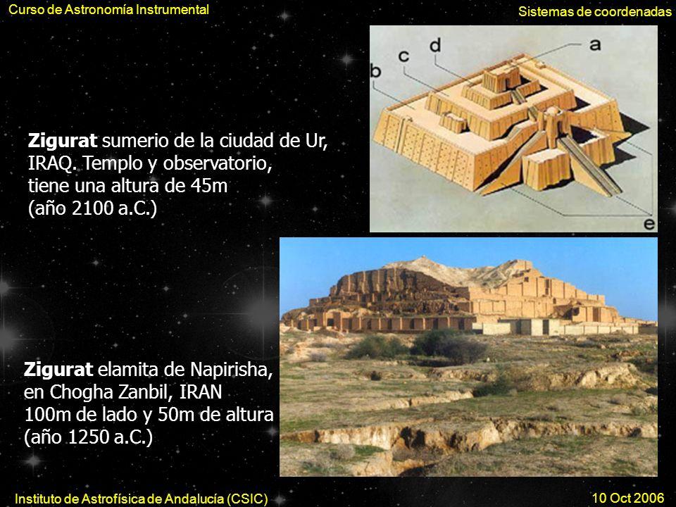 Zigurat Ur Zigurat sumerio de la ciudad de Ur, IRAQ. Templo y observatorio, tiene una altura de 45m (año 2100 a.C.) Zigurat elamita de Napirisha, en C
