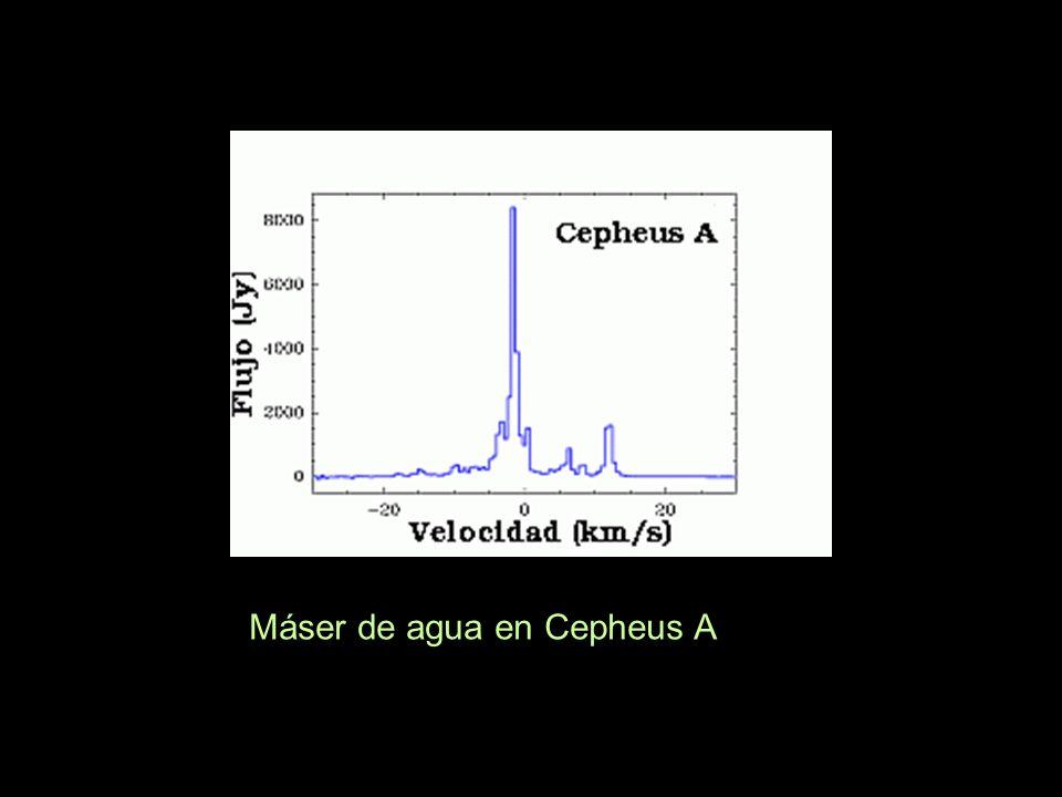 Máser de agua en Cepheus A