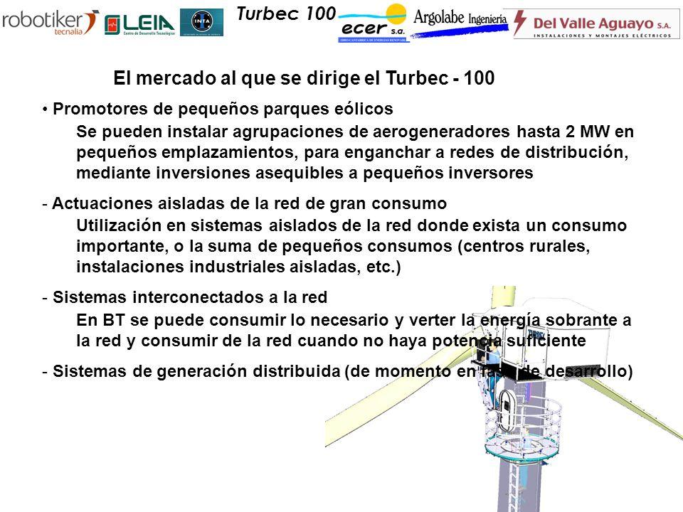 Promotores de pequeños parques eólicos Se pueden instalar agrupaciones de aerogeneradores hasta 2 MW en pequeños emplazamientos, para enganchar a rede