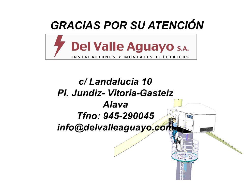 c/ Landalucia 10 PI. Jundiz- Vitoria-Gasteiz Alava Tfno: 945-290045 info@delvalleaguayo.com GRACIAS POR SU ATENCIÓN