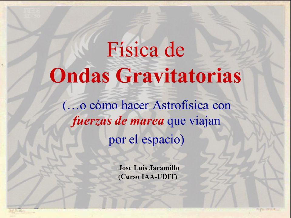 Física de Ondas Gravitatorias (…o cómo hacer Astrofísica con fuerzas de marea que viajan por el espacio) José Luis Jaramillo (Curso IAA-UDIT)