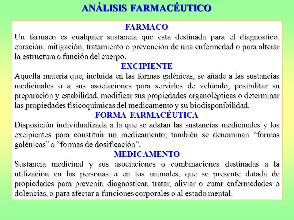 La Química Analítica puede participar en diferentes facetas en la investigación, desarrollo y aplicación de productos farmacológicos.