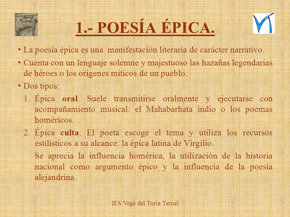 IES Vega del Turia Teruel ÉPICA 2.Precedentes.