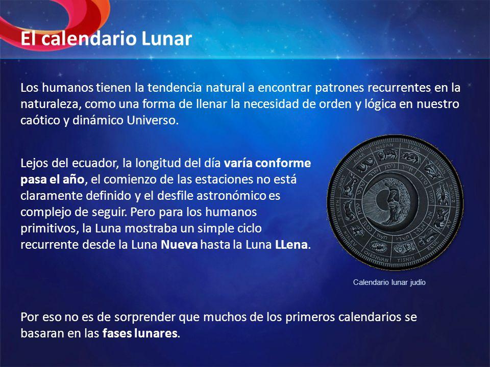 Desafortunadamente, el periodo orbital de la Tierra alrededor del Sol, o la longitud del año astronómico (365.24 días) no se relaciona con el año lunar (354.37 días) o 12 meses lunares de 29.53 días.
