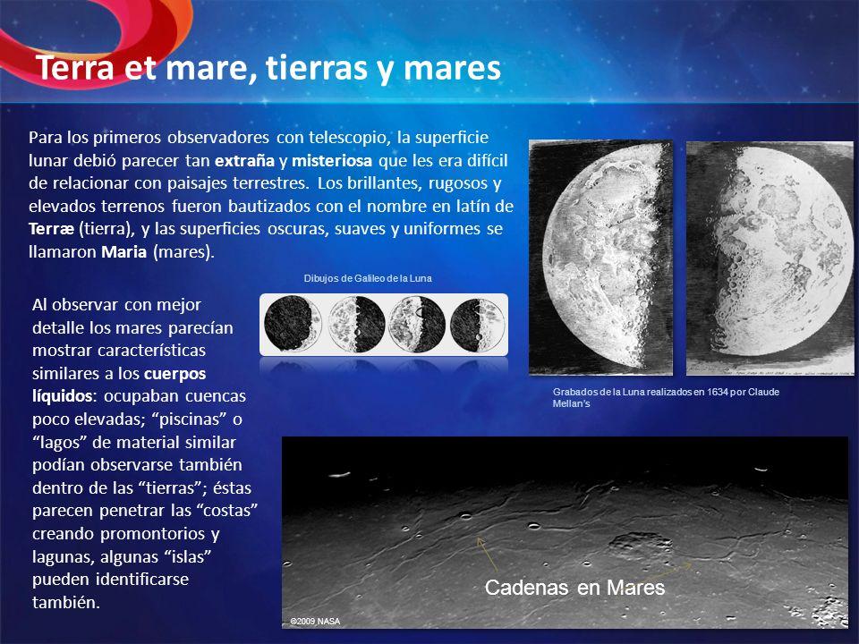 Para los primeros observadores con telescopio, la superficie lunar debió parecer tan extraña y misteriosa que les era difícil de relacionar con paisaj