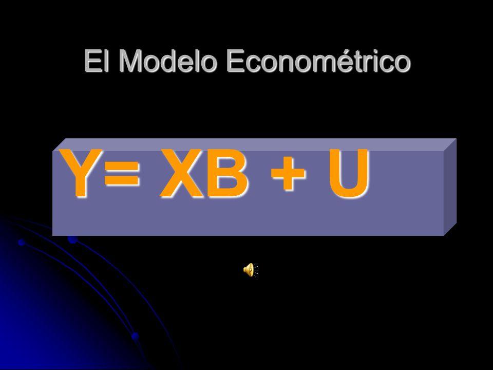El Modelo Econométrico Y= XB + U