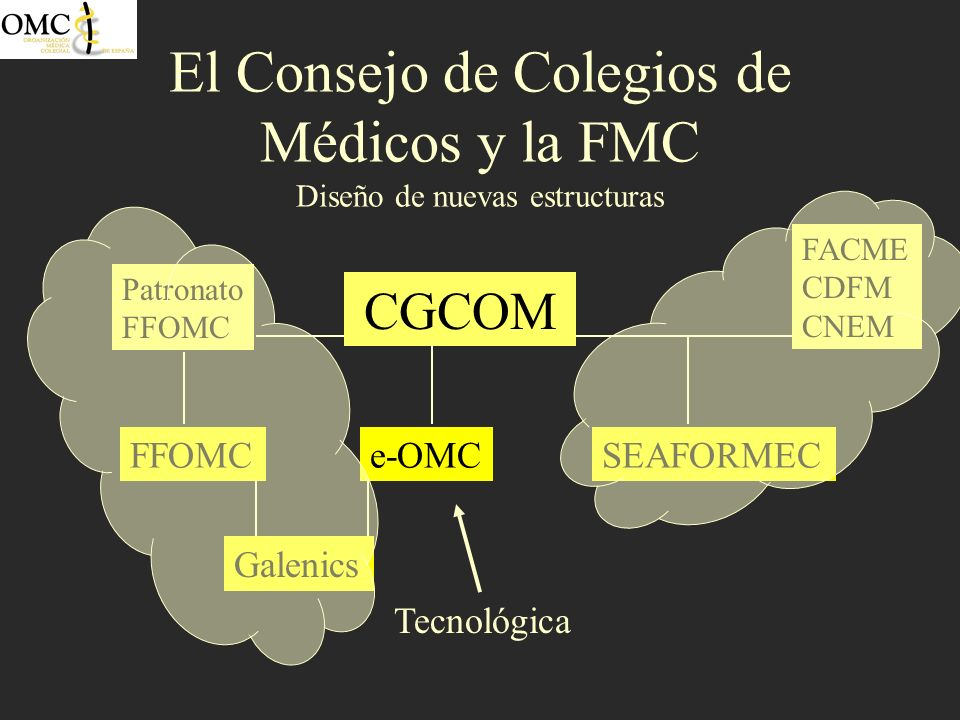 El Consejo de Colegios de Médicos y la FMC Diseño de nuevas estructuras, FFOMC Intra-Sectoriales Ministerio de Sanidad y Consumo.