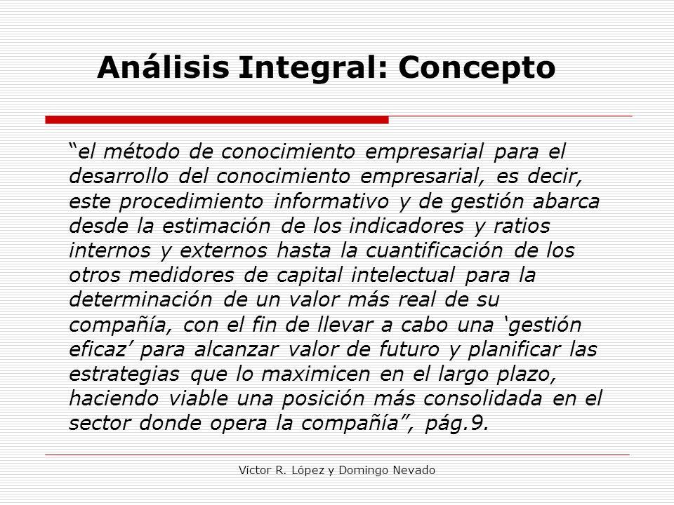 Víctor R. López y Domingo Nevado Análisis Integral: Concepto el método de conocimiento empresarial para el desarrollo del conocimiento empresarial, es