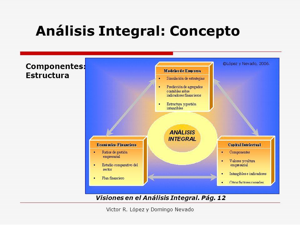 Víctor R. López y Domingo Nevado Análisis Integral: Concepto Visiones en el Análisis Integral. Pág. 12 Componentes: Estructura