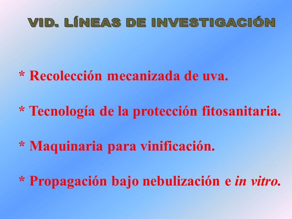 * Recolección mecanizada de aceituna.* Tecnología de la protección fitosanitaria.