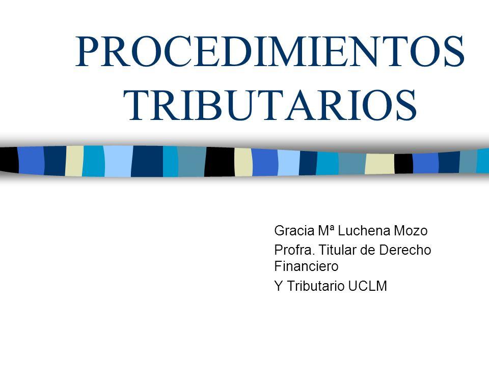 PROCEDIMIENTOS TRIBUTARIOS Gracia Mª Luchena Mozo Profra. Titular de Derecho Financiero Y Tributario UCLM