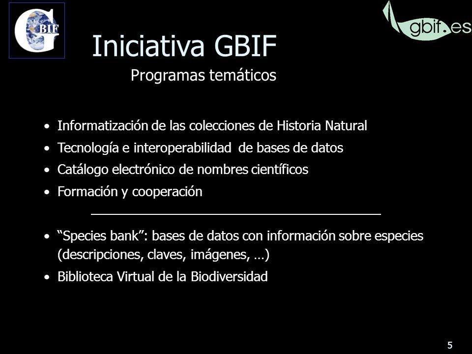 16 49 colecciones y más de 12 millones de especímenes 98% de los especímenes en 12 colecciones GBIF en España Colecciones: Zoología