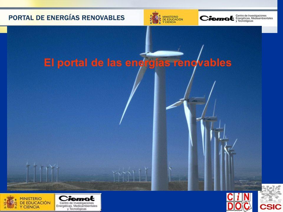 El portal de las energías renovables