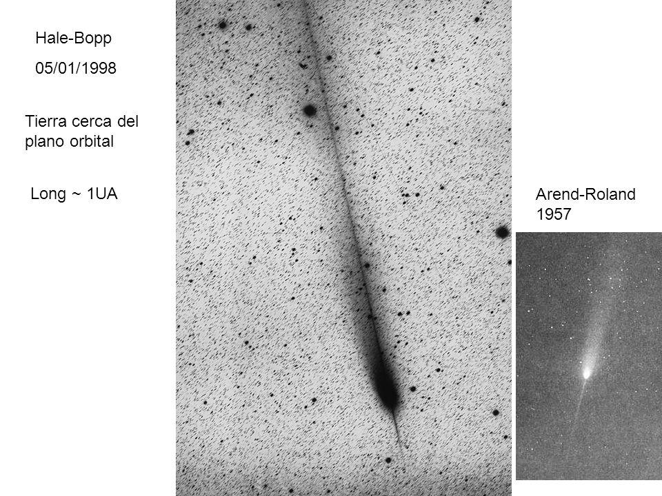 Hale-Bopp 05/01/1998 Long ~ 1UA Tierra cerca del plano orbital Arend-Roland 1957