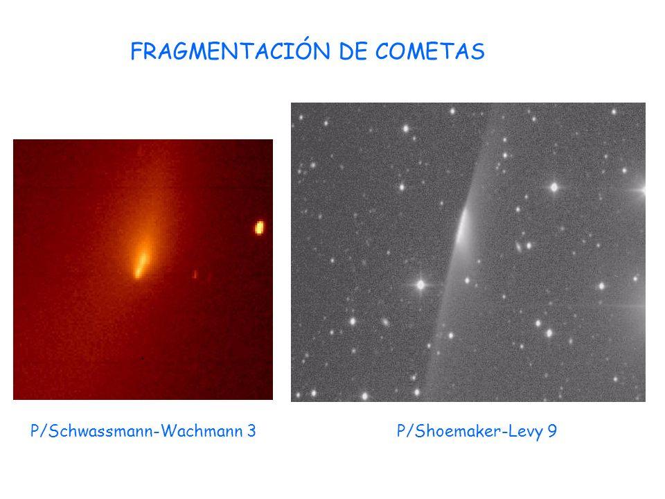 FRAGMENTACIÓN DE COMETAS P/Schwassmann-Wachmann 3P/Shoemaker-Levy 9