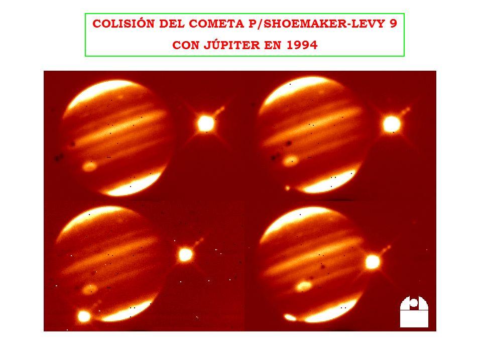 COLISIÓN DEL COMETA P/SHOEMAKER-LEVY 9 CON JÚPITER EN 1994