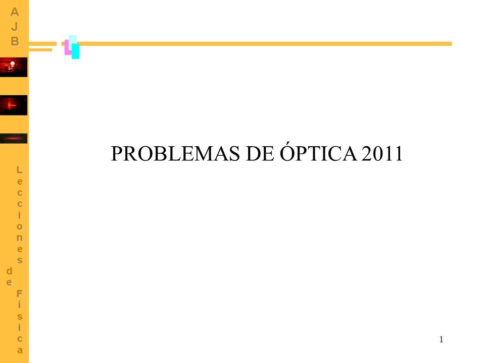 1 PROBLEMAS DE ÓPTICA 2011
