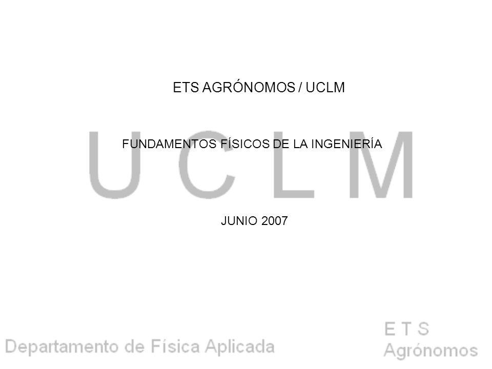 FUNDAMENTOS FÍSICOS DE LA INGENIERÍA JUNIO 2007 ETS AGRÓNOMOS / UCLM