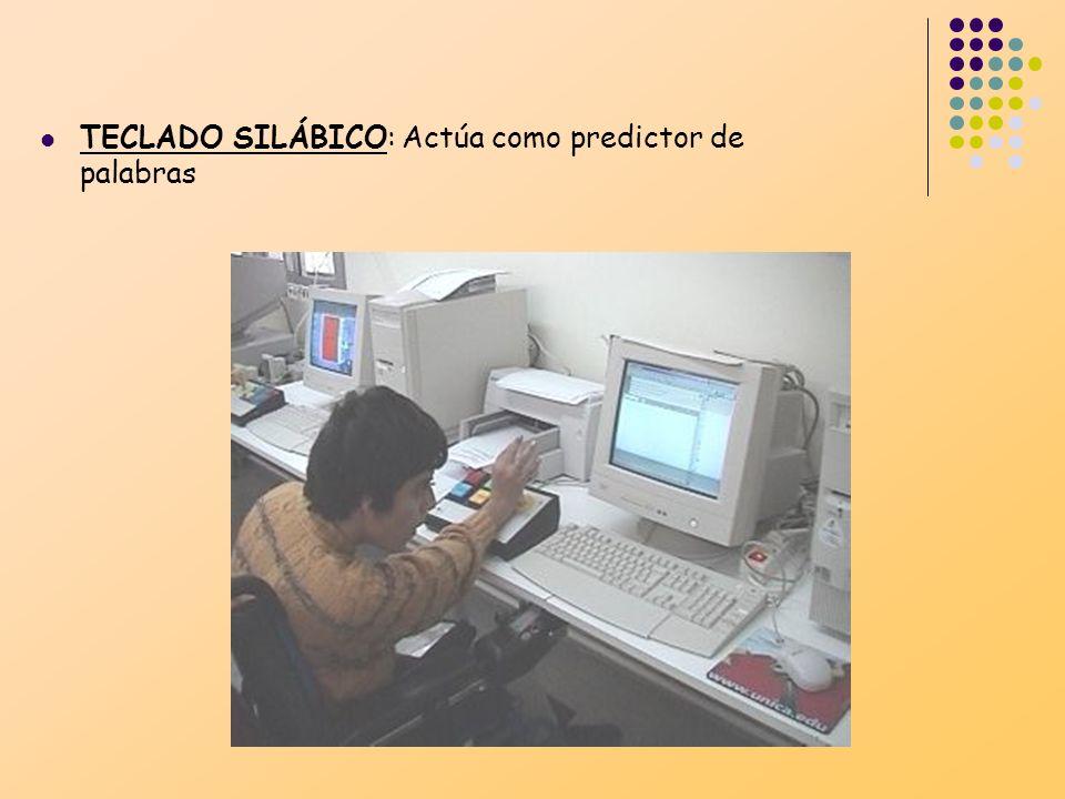 TECLADO SILÁBICO: Actúa como predictor de palabras