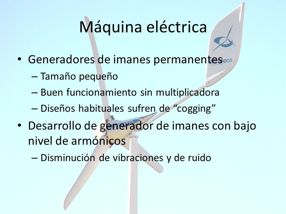 Máquina eléctrica Generadores de imanes permanentes – Tamaño pequeño – Buen funcionamiento sin multiplicadora – Diseños habituales sufren de cogging D