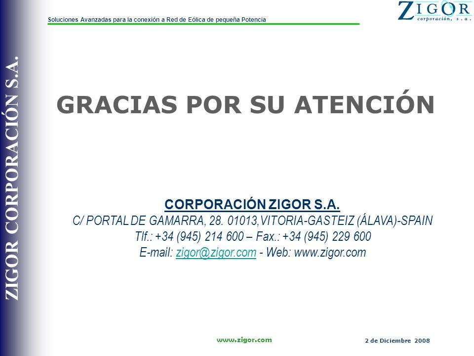 ZIGOR CORPORACIÓN S.A.