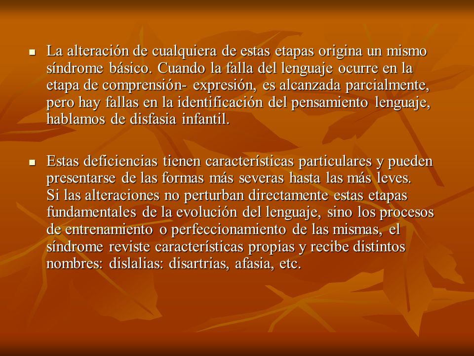 Causas que originan trastornos en el lenguaje.