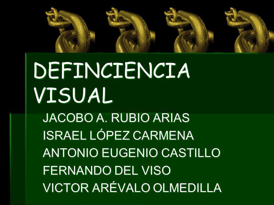 DEFINCIENCIA VISUAL JACOBO A. RUBIO ARIAS ISRAEL LÓPEZ CARMENA ANTONIO EUGENIO CASTILLO FERNANDO DEL VISO VICTOR ARÉVALO OLMEDILLA