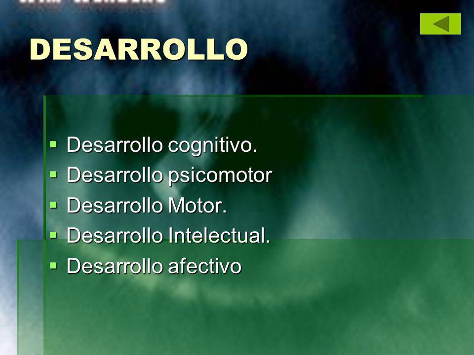 DESARROLLO Desarrollo cognitivo. Desarrollo cognitivo. Desarrollo psicomotor Desarrollo psicomotor Desarrollo Motor. Desarrollo Motor. Desarrollo Inte