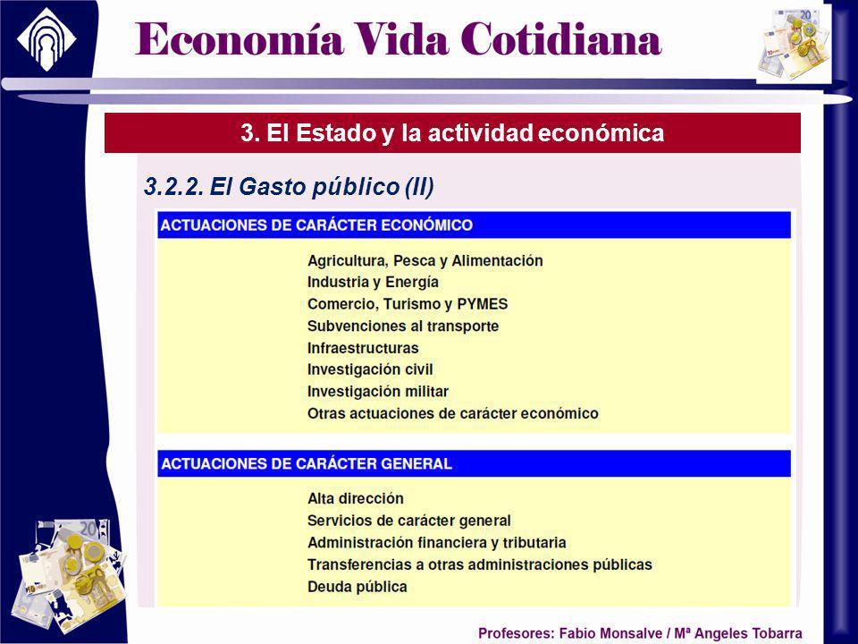 3. El Estado y la actividad económica 3.2.2. El Gasto público (II)