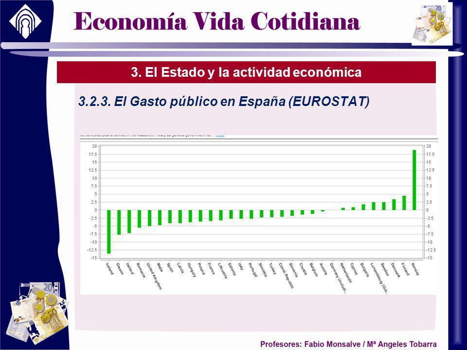 3. El Estado y la actividad económica 3.2.3. El Gasto público en España (EUROSTAT)