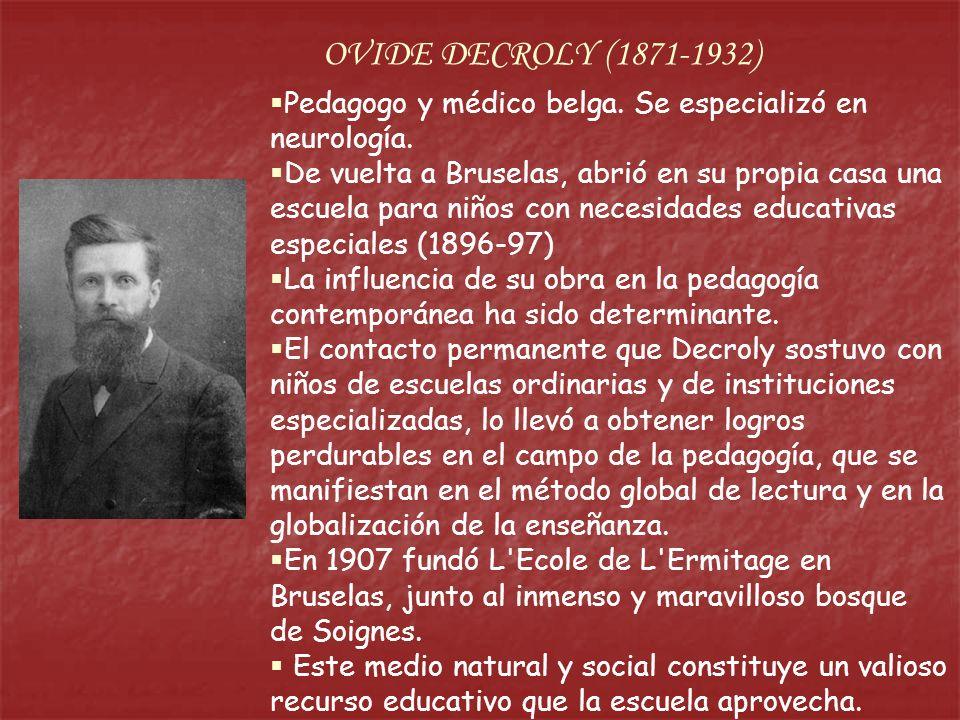 Pedagogo y médico belga. Se especializó en neurología. De vuelta a Bruselas, abrió en su propia casa una escuela para niños con necesidades educativas